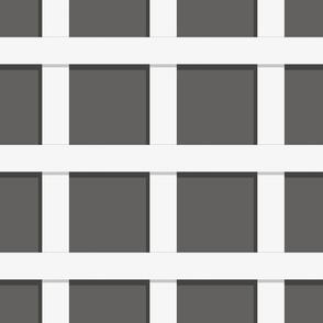 Trelliage REVERSE SOFT BLACK LARGER SQUARE TRELLIS