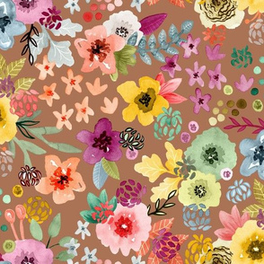 Spring Floral Desert Copper by Angel Gerardo