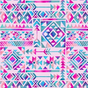 Tribal Summer / Ligth Pink / Small Scale
