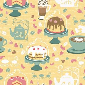 Pastel Cafe Honey Yellow