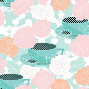 Blossom pastel cafe