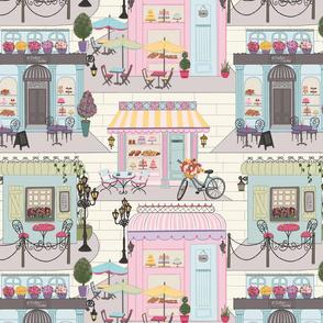 Pretty Pastel cafes