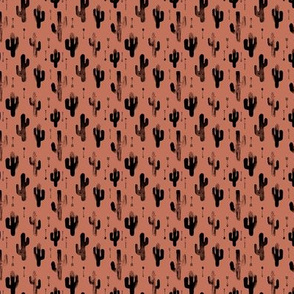 Watercolors ink cactus garden gender neutral geometric arrows cowboy theme autumn copper brown MACRO