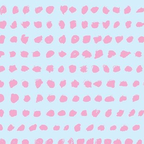 Minimal raw brush dots in a row abstract squares Scandinavian blue pink