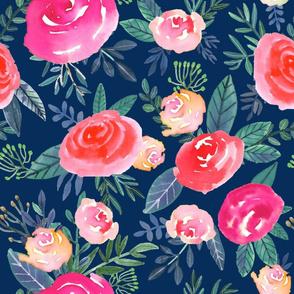 """16"""" Rose Field / Navy"""