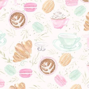 Pastel French Cafe | Watercolor