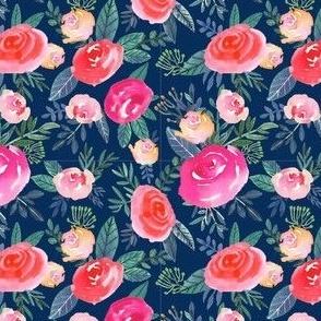"""4"""" Rose Field / navy"""