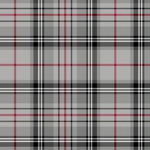 "Glen Moy tartan, double crimson stripe, 12"""