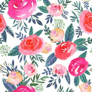 "32"" Rose Field / White"