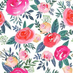 "8"" Rose Field / White"