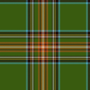 "King George VI / Green Stewart tartan,  12"" - worn by Prince Charles, ancient colors"