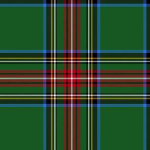 "King George VI / Green Stewart tartan,  12"" - worn by Prince Charles,  modern colors"