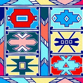 Ndebele Pattern - Pantone Spring Summer 2020