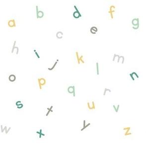 sage mustard alphabet