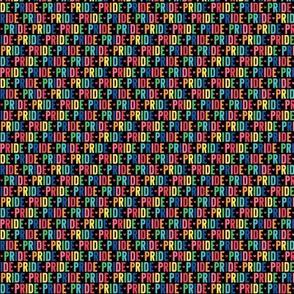 pride ULTRA small rainbow on black UPPERcase