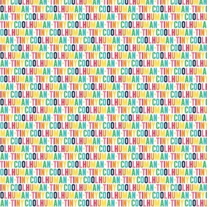 tiny cool human ULTRA small rainbow with navy UPPERcase