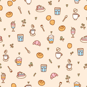 Pastel pastry pattern