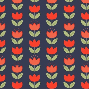 Retro flowers // Bright summer flowers // Retro inspired florals