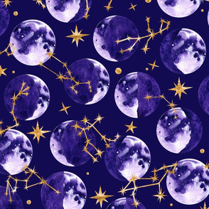 Moon Phases and Astrology in Deep Purple