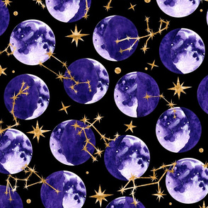 Moon Phases and Astrology in Black