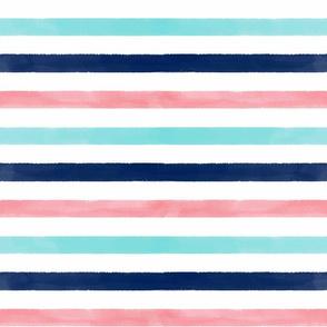Watercolor Stripes
