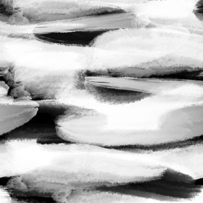 Black & White Horizontal Brushstrokes
