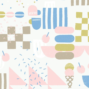 Papercut Abstract Pastel Cafe M+M Salt by Friztin