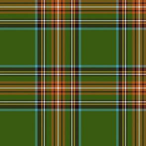 "King George VI / Green Stewart tartan,  10"" - worn by Prince Charles, ancient colors"
