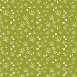 Green Pawprints on Green