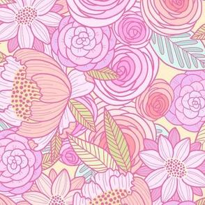 spring pop floral - pastel