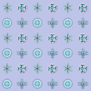 Jellyfish Dots on blue