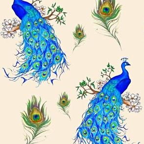 Peacocks Prancing Pretty
