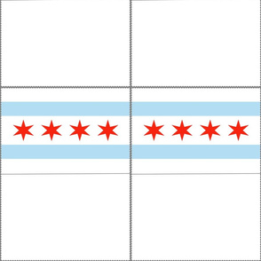Chicago Flag Mask Template