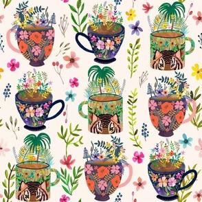 "16"" Tea Paradise / Ivory"