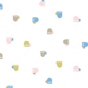 Teacups M+M White by Friztin