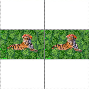 Tiger Queen Fabric Mask Template