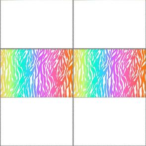 Rainbow Zebra Stripes Fabric Mask Template