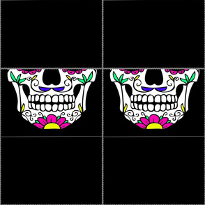 Candy Skull Fabric Mask Template (1)