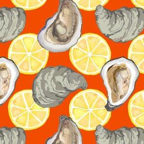 oysters new w lemons