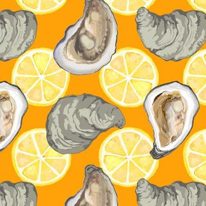oysters new w lemons orange