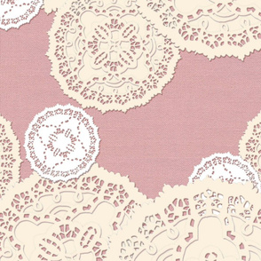 French Paper Doily - Large Scale - Rose - © creative8888