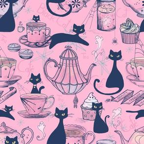 Black Cat Cafe // in Retro Rose