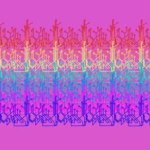 Rainbow circuits - hot pink