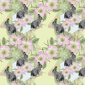 Bunnies & Floral Yellow