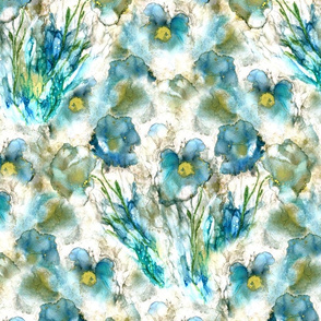 Many Floral Blue