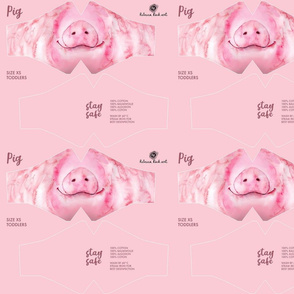 XS Pig Face Mask - toddler size (1-2 years) - face masks, masks, facemask