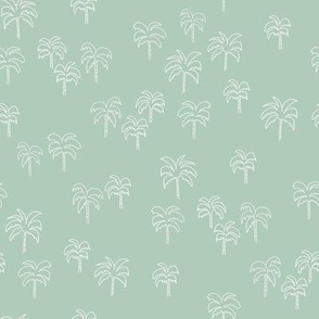 palm tree fabric - summer 2020, muted colors - sfx6008 seaglass