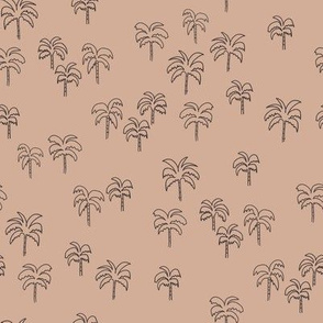 palm tree fabric - summer 2020, muted colors - sfx1213 almond
