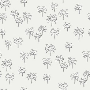 palm tree fabric - summer 2020, muted colors - sfx4005 steel