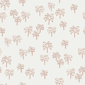 palm tree fabric - summer 2020, muted colors - sfx1436 apricot